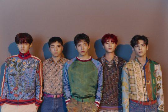 밴드 데이식스의 제이(왼쪽부터), 성진, 도운, 영케이, 원필. / JYP엔터테인먼트 제공