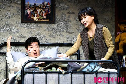 배우 김상중(왼쪽), 길해연. / 서예진 기자 yejin@