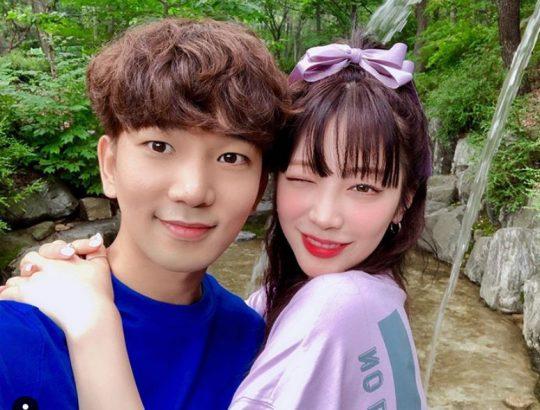 엠블랙 출신 지오와 연인 최예슬./ 사진=인스타그램