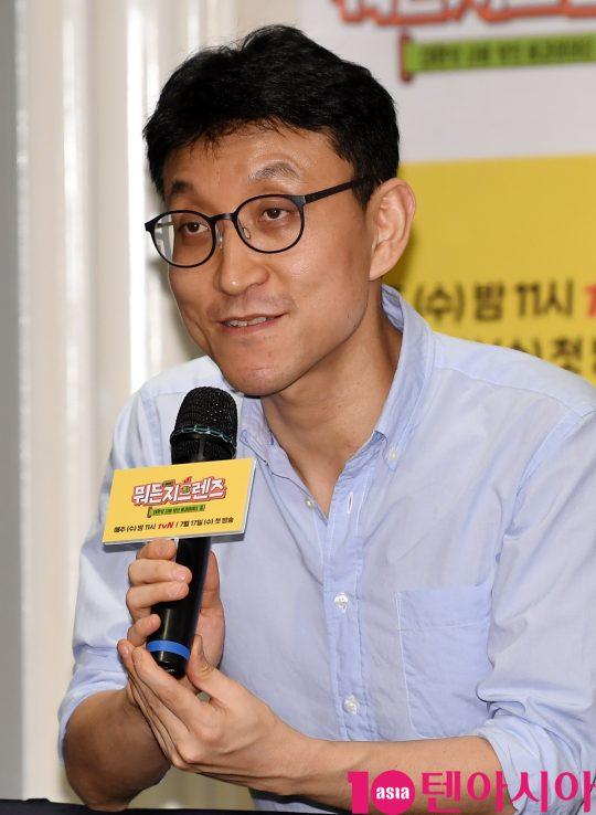 김유곤 CP가 17일 오후 서울 여의도 켄싱턴호텔에서 열린 tvN '뭐든지 프렌즈' 제작발표회에 참석하고 있다.