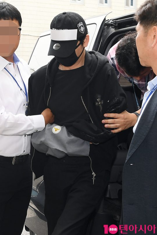 지난 18일 검찰에 송치된 배우 강지환. /이승현 기자 lsh87@