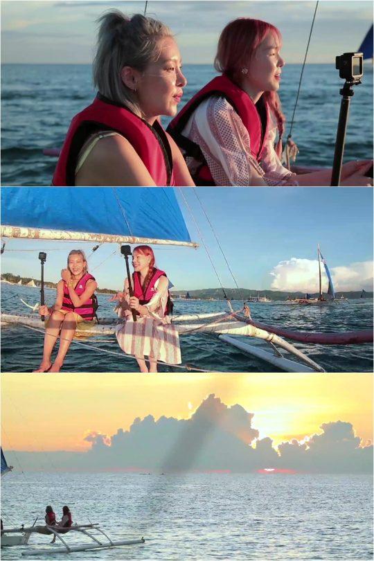 '배틀트립' 송해나·진정선의 보라카이 여행. /사진제공=KBS2 '배틀트립'