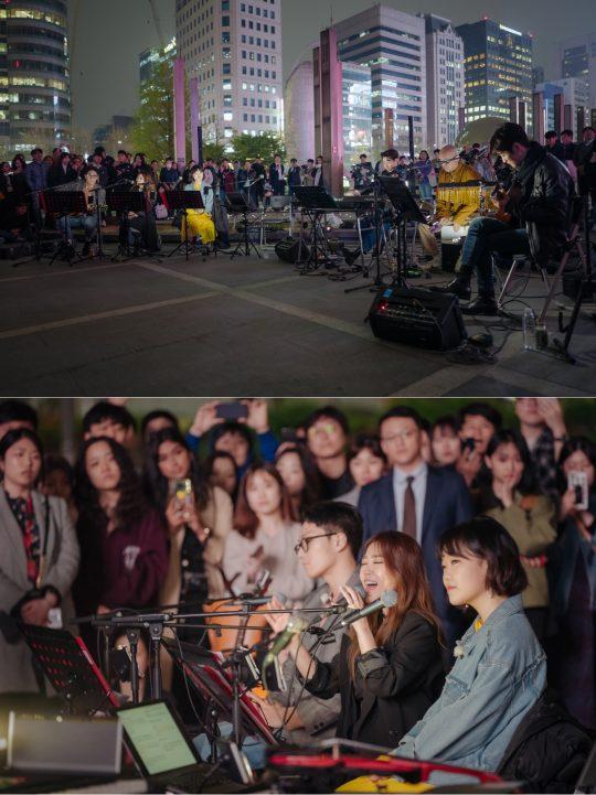 '비긴어게인3' 패밀리밴드의 버스킹. /사진제공=JTBC