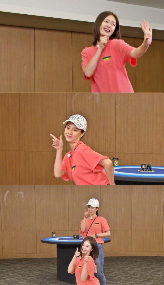 걸그룹 댄스를 추는 '런닝맨' 멍돌 자매. /사진제공=SBS