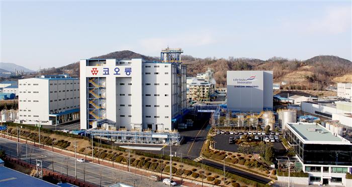 코오롱인더의 생산설비 공장