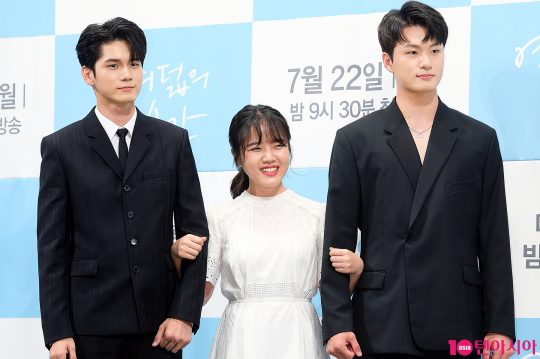배우 옹성우(왼쪽부터), 김향기, 신승호