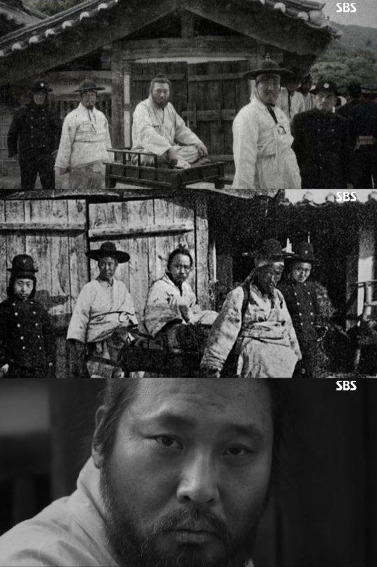 전봉준의 압송 당시를 재구성한 '녹두꽃'. /사진=SBS 방송 캡처