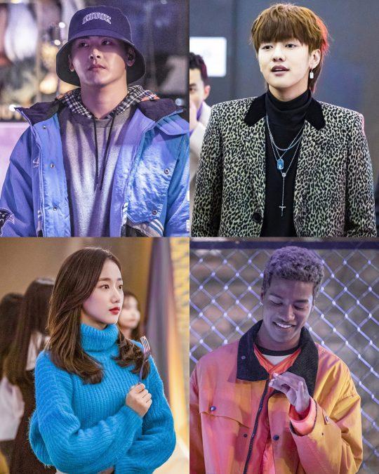 SBS '힙합왕 나스나길'에 출연하는 이호원(왼쪽 위부터 시계방향)·신원호·한현민·이나은. / 사진제공=SBS