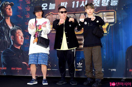 가수 키드밀리(왼쪽부터), 스윙스, 보이콜드