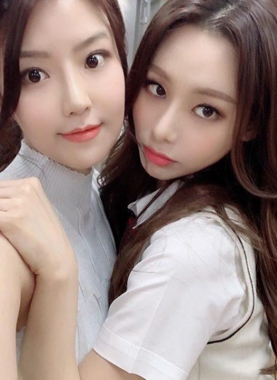 배우 송다인(왼쪽)-정유지./ 사진=인스타그램