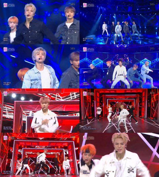 그룹 NCT DREAM. / SBS '인기가요' 방송화면