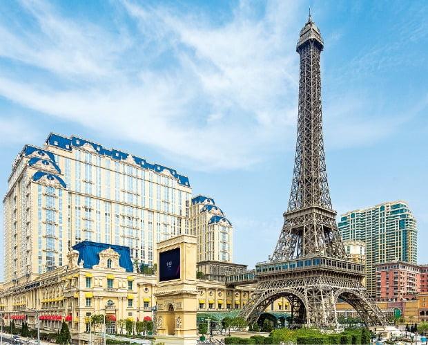 마카오 코타이 지역 랜드마크인 파리지앵 마카오의 에펠탑.