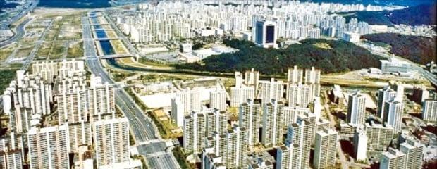 1991년 9월부터 입주가 시작된 분당신도시 전경.  /출처=한국향토문화전자대전