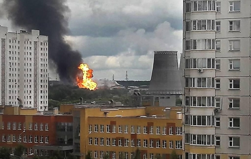 """모스크바 인근 발전소서 대형 화재…""""1명 사망, 13명 부상""""(종합)"""