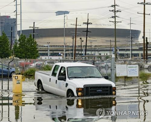 허리케인급 열대성 폭풍 북상에 美뉴올리언스 주민 1만명 대피령(종합)
