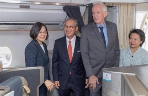 차이잉원 대만 총통,  미국 도착…정ㆍ재계 인사 접촉