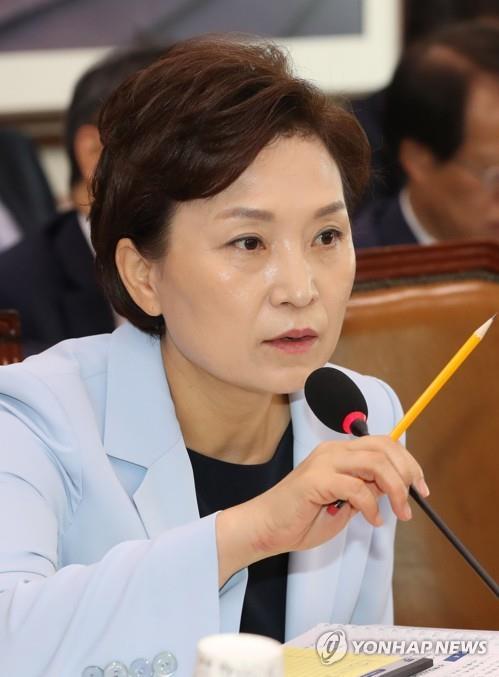 """김현미 """"분양가 상한제 시행령 준비 중…전매제한 확대 검토"""""""