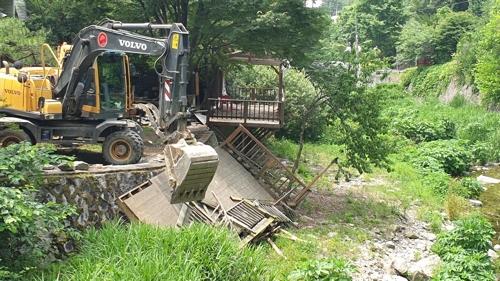 남양주시 하천·계곡 불법 구조물 82개 철거 완료