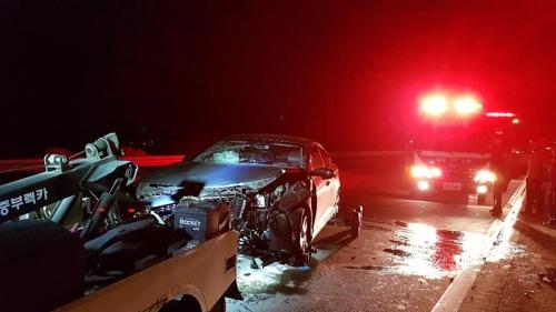 중부내륙고속도로서 교통사고 잇따라…1명 사망