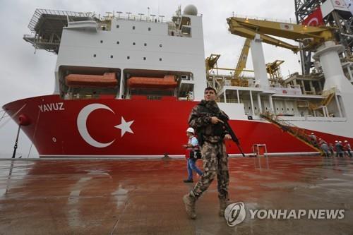 """터키, EU 제재에도 """"동지중해 가스 시추 계속""""(종합)"""