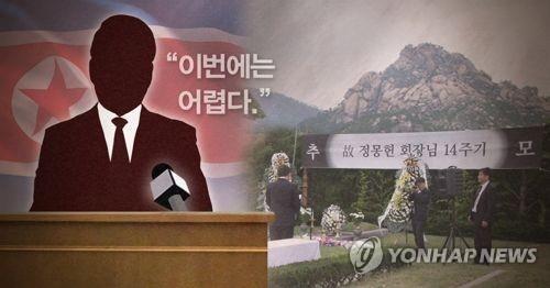 """정몽헌 16주기 금강산 추모행사 '무산'…北 """"진행 어렵다""""(종합)"""