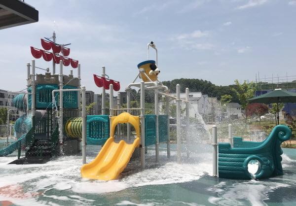 천안시, 아름드리공원 어린이 물놀이 시설 시범 운영