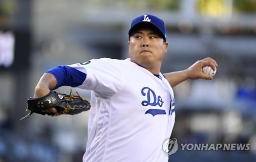 류현진, 일본인 투수 마에다 도움받아 시즌 11승 달성