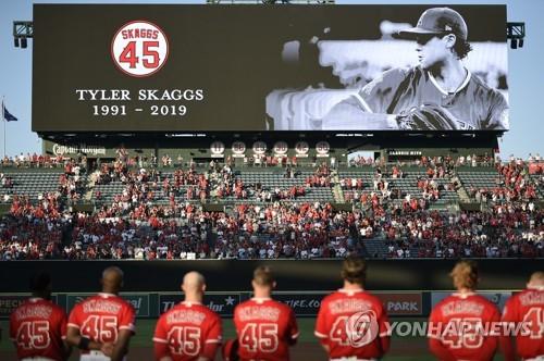 MLB 에인절스, 스캑스 추모의 날에 '팀 노히트 노런' 위업