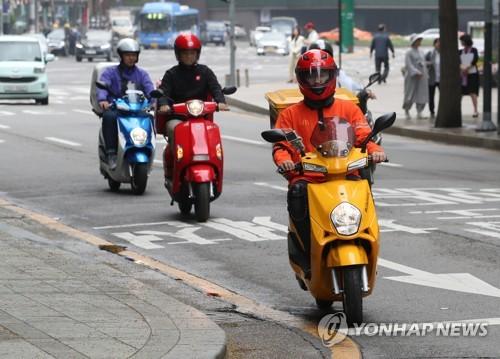 미세먼지 저감 위한 전기 오토바이 보급 매년 목표 미달