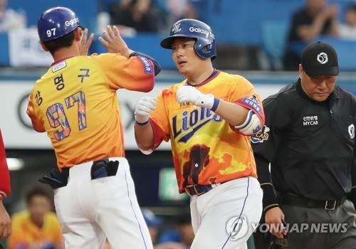 이원석 8회 결승 투런포…삼성, KIA 꺾고 3연승