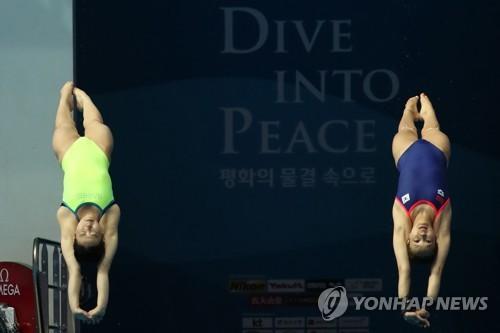 """[광주세계수영] 김수지·조은비·문나윤 """"여자 다이빙도 열심히 하고 있어요"""""""