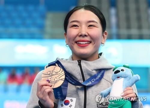 [광주세계수영] 14세에 올림픽도 뛴 김수지, 한국다이빙 새역사