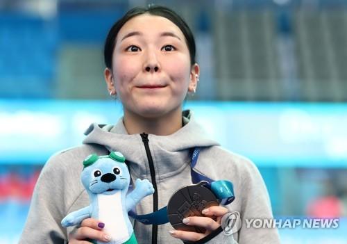 [광주세계수영] 김수지가 선물한 안정감…개최국 노메달은 3차례