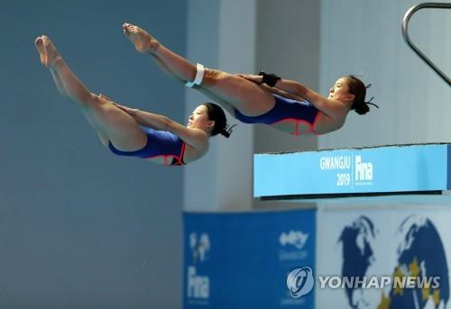 """[광주세계수영] '예선 통과' 조은비·문나윤 """"결승에서는 실수 줄여야죠"""""""