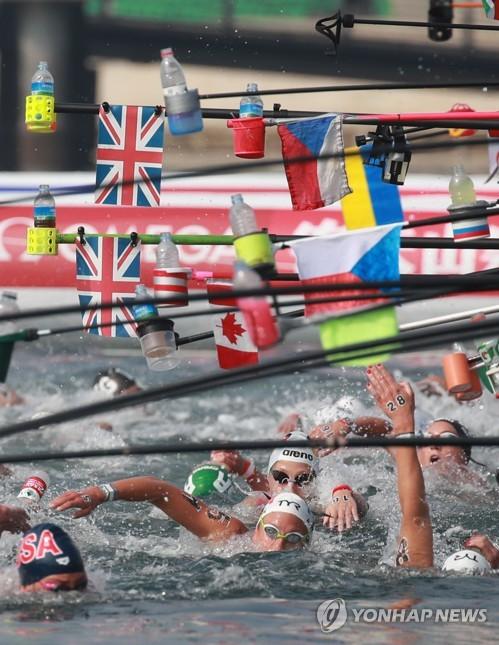 [광주세계수영] 철인들의 대향연, 수영 마라톤…한계에 도전하다