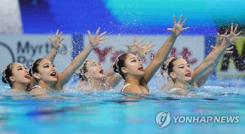 -광주세계수영- 한국 아티스틱, 팀 규정종목 결승행 무산