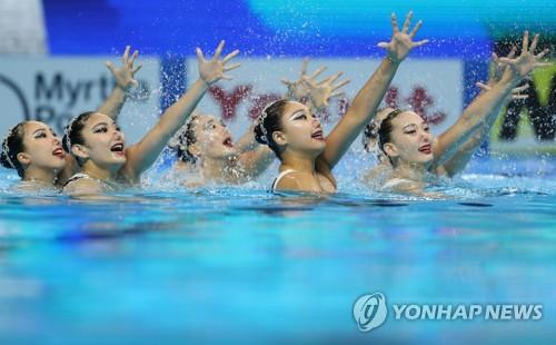 """[광주세계수영] 한국 아티스틱 팀 """"다시 명맥 끊기지 않도록…"""""""
