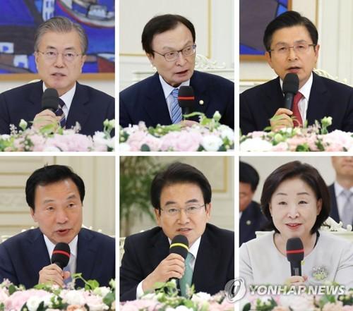 [文대통령·여야대표 대화록] ④ 선거제도·개헌·국내정치
