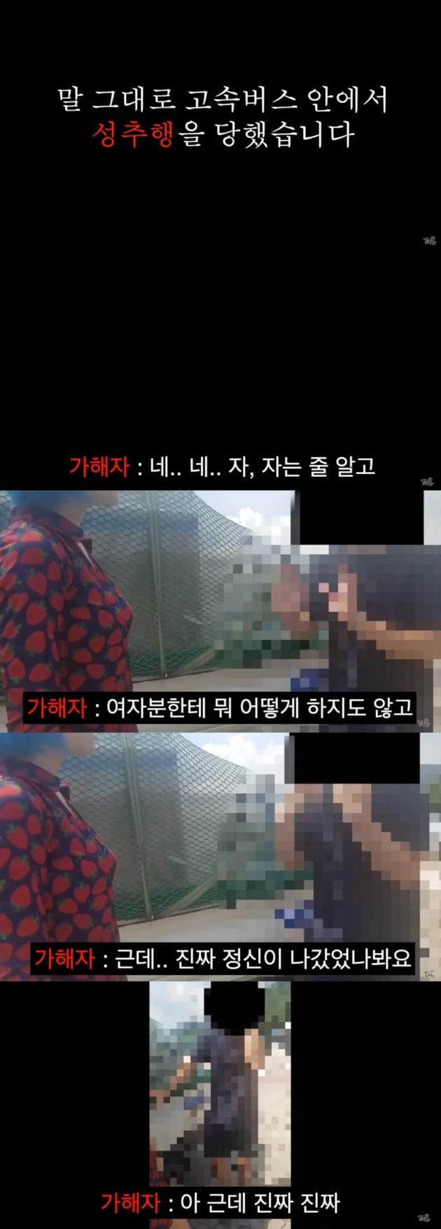 유튜버 꽁지 버스 성추행 피의자 잡아 /사진=유튜브 캡쳐