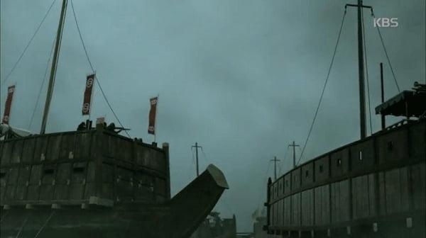 '임진왜란1592' 속 일본군 전함/사진=KBS 1TV '임진왜란1592' 영상 캡처