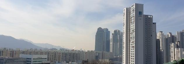 올여름 중대형 면적대가 최고가를 경신한 서울 대치동 '래미안대치팰리스'와 주변 단지들. 전형진 기자