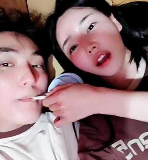 가수 강타(왼쪽)·레이싱 모델 우주안. / 우주안의 SNS 영상 캡처