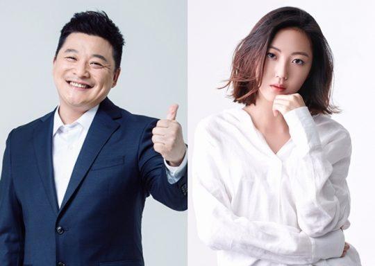 개그맨 윤정수와 가수 고나영. /사진제공=케이월드 페스타