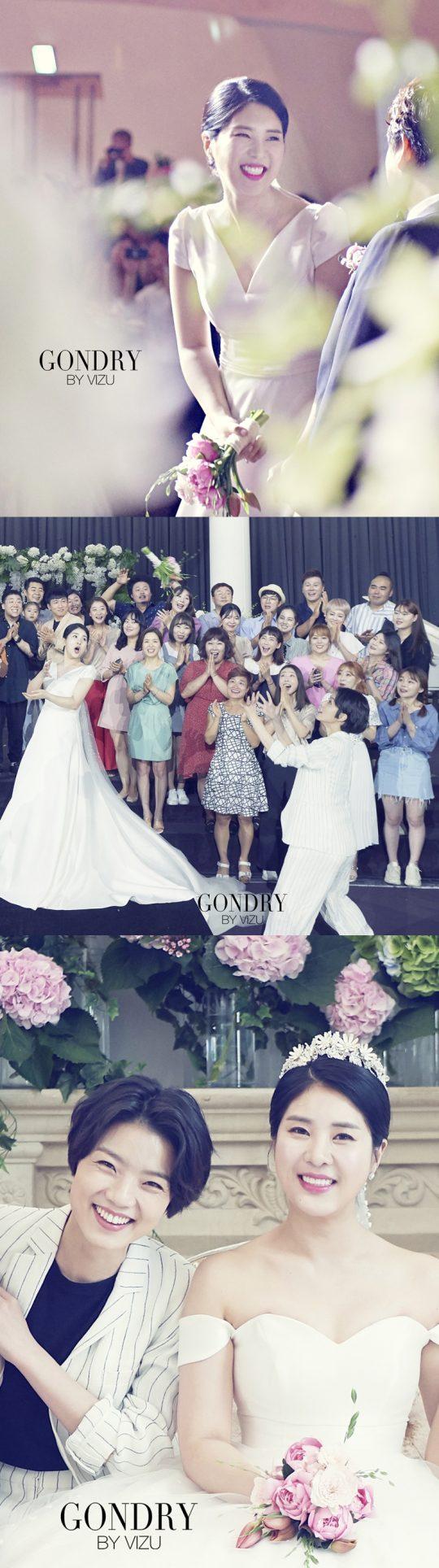개그우먼 결혼식 본식./사진제공=해피메리드컴퍼니