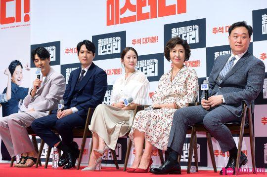 배우 차승원(왼쪽부터), 박해준, 전혜빈, 김혜옥, 이계벽 감독