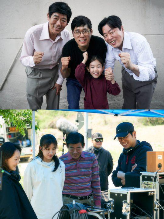 영화 '담보' 촬영 비하인드컷. /사진제공=CJ엔터테인먼트