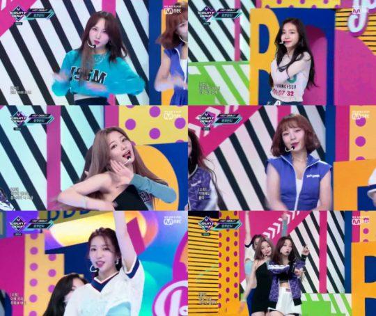 그룹 로켓펀치. / Mnet '엠카운트다운' 방송화면