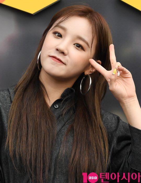 여자아이들 우기가 9일 오후 서울 장충동 장충체육관에서 열린 2019 펍지 네이션스 컵 기념 포토월에 참석하고 있다.