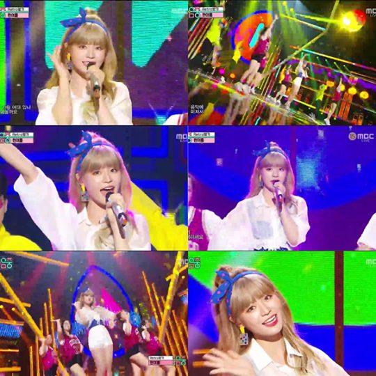 가수 한여름. / MBC '쇼!음악중심' 방송화면