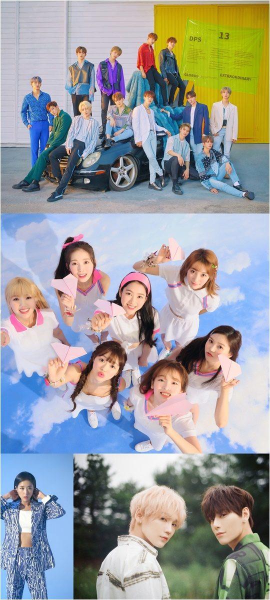 그룹 세븐틴(위부터), 오마이걸, 신지, JBJ95./ 사진제공=SBS